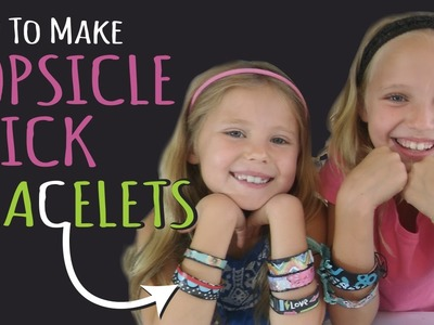 How to Make Popsicle Stick Bracelets – Kids Crafts – DIY Jewelry – Birthday Gifts