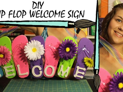Kate Creates DIY Flip Flop Welcome Sign