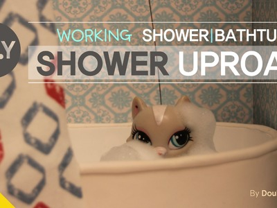 * Miniature TV * LPS Videos #  16 :DIY-Working Shower&Bathtub miniature (doll house)
