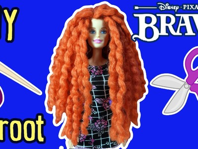 Disney Brave Merida Hair with Barbie Doll - DIY - How to Make Yarn Reroot - Making Kids Toys