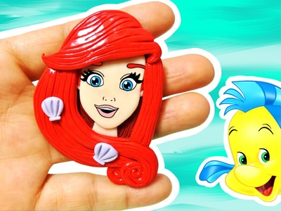 Disney Princess! DIY Mini Ariel! The Little Mermaid Polymer Clay Tutorial
