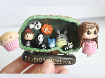 DIY Clay Studio Ghibli Cave Figurine