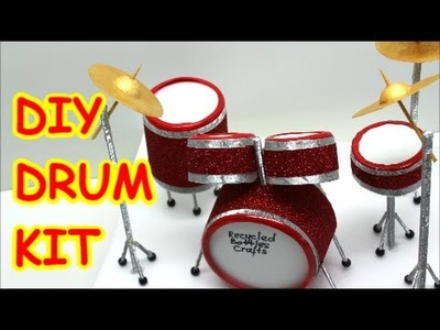 DIY Crafts for Teens: Drum Kit from Water Bottles