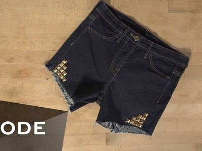 DIY Denim Shorts | Glam It Yourself ★ Mode.com
