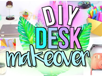 DIY Desk Decor + Organization | Desk Area Makeover | JENerationDIY