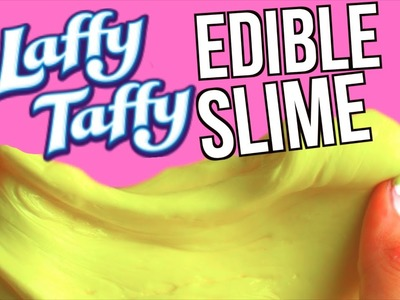 DIY EDIBLE Laffy Taffy Slime! Candy To Slime in 20 SECONDS TESTED!