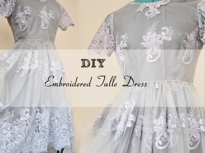 DIY Embroidered Tulle Dress