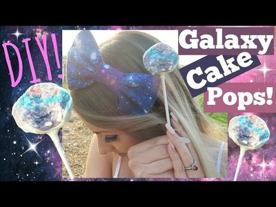 DIY Galaxy Cake POPS!! Fun & Easy!