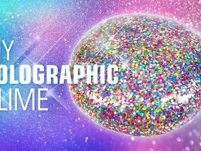 DIY HOLOGRAPHIC SLIME !! Holographic Glitter Slime