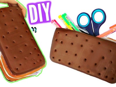 DIY Ice Cream Sandwich Pencil Case! Squishy Pencil Box!