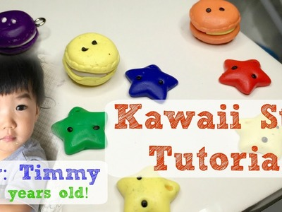 DIY Kawaii Star Tutorial by a Toddler [Polymer Clay] by Timmy
