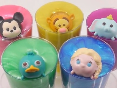 DIY Learn Colors Clay Slime Surprise Disney Toys Collection Mickey, Elsa, Perry, Tigger
