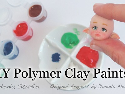 DIY Polymer Clay Paints for OOAK Dolls