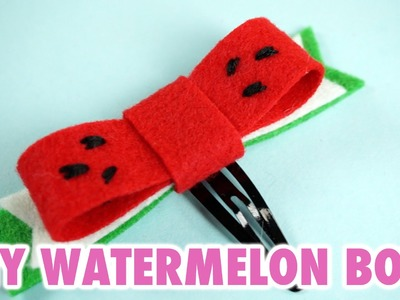 DIY Watermelon Hair Bow - HGTV Handmade