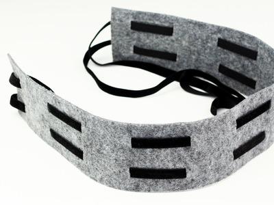 DIY Wide Felt Belt