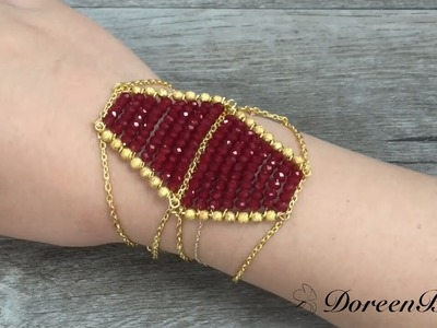 Doreenbeads Jewelry Making Tutorial - How to DIY Sparkling Boho-Style Beaded Bracelet