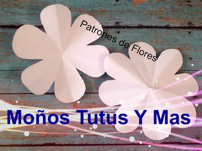 HACIENDO PATRONES DE FLORES Paso a Paso FLOWER PATTERNS Tutorial DIY How To PAP