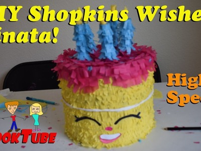Homemade DIY Shopkins' Wishes Pinata tutorial at High speed