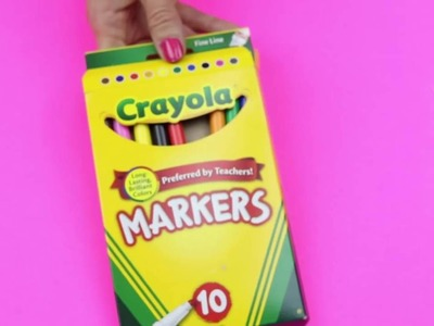 [JR] DIY Crafts: Easy DIY Mascara Marker Pens - Crayola Marker DIYs