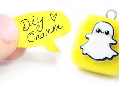 Kawaii Snapchat logo DIY charm!| Kawaii Friday