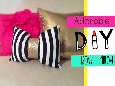 Let's get Crafty! Adorable Bow Accent Pillow DIY