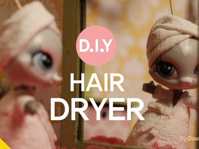 * Miniature TV * LPS Videos #17 :DIY Miniature Hair Dryer   (doll house)