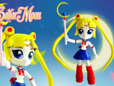 Sailor Moon New Custom Doll with MLP Equestria Girl DIY Tutorial | Evies Toy House