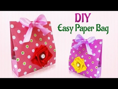 Craft Ideas : How To Make DIY Handmade Paper Gift Bag | DIY  Paper Projects