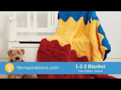 Crochet 1-2-3 Blanket