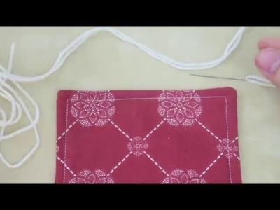 Crochet Quilt Tutorial - Part 2 (Blanket Stitch)