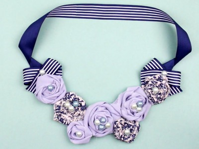 DIY Fabric Rose Necklace
