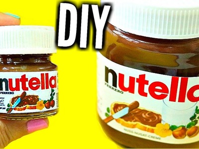 DIY MINI NUTELLA | Easy & Adorable