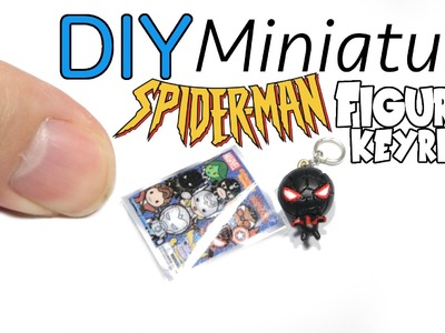 DIY Miniature Spiderman Marvel Figural Keyring Clay Tutorial