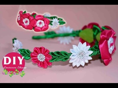DIY New flowers Kanzashi Headband.