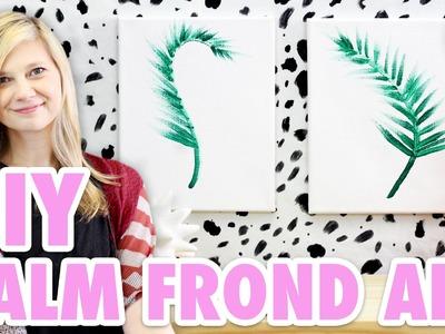 DIY Palm Frond Art. Minimalist Design