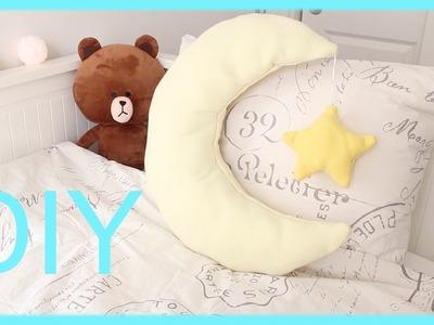 DIY Room Decor - Moon and Star Pillow (NO SEW.SEW)