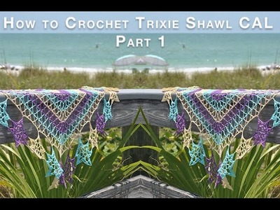 How to Crochet Trixie Shawl Part 1