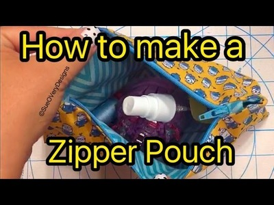 How to Make a Zipper Pouch - Sew an Easy Zipper Pouch for beginners!