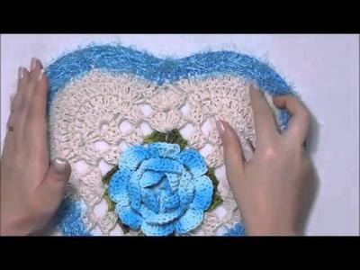 JOGO DE BANHEIRO CORAÇÃO, TAMPA DO VASO, DIANE GONÇALVES, crochet video tutorial (WOC)