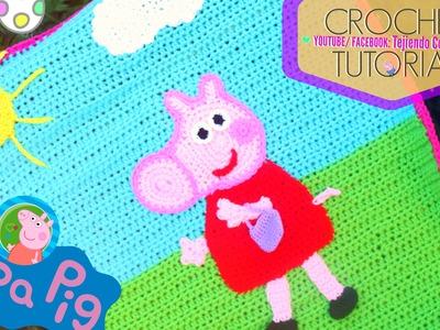PEPPA PIG Cobija Crochet Tutorial   Tejiendo Con Erica