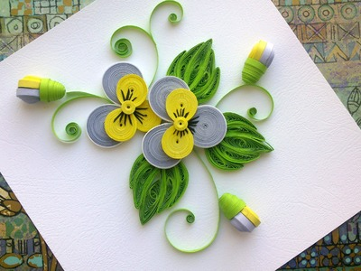 Quilling Paper Flower Tutorial:  D.I.Y. Quilling Paper Pansy Flower Tutorial