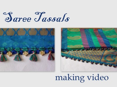 Saree tassals with crochet