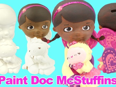 DOC MCSTUFFINS Paint Your Own Toy Figure How-to Disney Junior Painted by GlitterRainbowToys