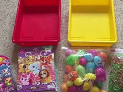 How to Create Surprise Eggs Sensory Bins for Young Children!