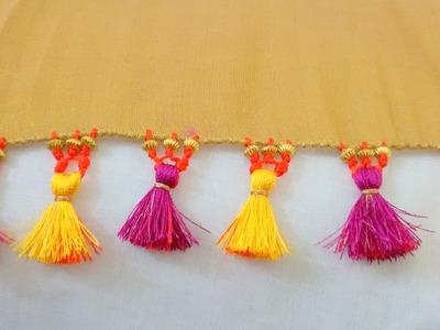 How to do Saree Kuchu with Beads - Design 1