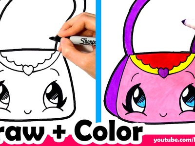 How to Draw a Purse Cute + Easy - Fun2draw