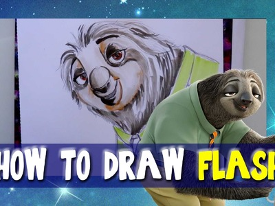 How to Draw FLASH from Disney's ZOOTOPIA - @dramaticparrot