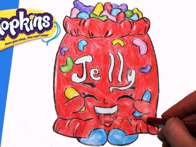 "How to Draw Shopkins Season 1 ""Jelly B"" Step By Step Easy 