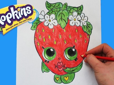 "How to Draw Shopkins Season 1 ""Strawberry Kiss"" Step By Step Easy 