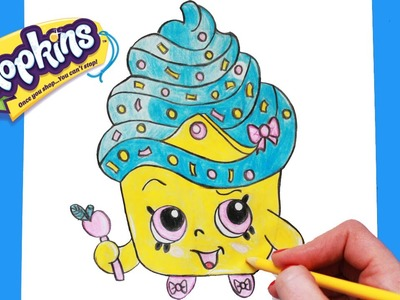 "How to Draw Shopkins Season 1 ""Cupcake Queen"" Limited Edition Step By Step Easy 
